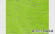 Physical 3D Map of San Martin
