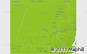 Physical Panoramic Map of Vera