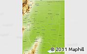 Physical 3D Map of Santiago del Estero