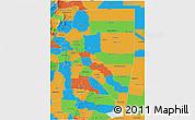 Political 3D Map of Santiago del Estero