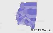 Political Shades 3D Map of Santiago del Estero, cropped outside