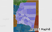 Political Shades 3D Map of Santiago del Estero, darken