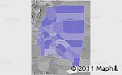 Political Shades 3D Map of Santiago del Estero, desaturated