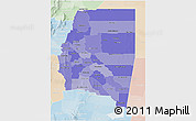 Political Shades 3D Map of Santiago del Estero, lighten