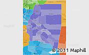 Political Shades 3D Map of Santiago del Estero