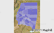 Political Shades 3D Map of Santiago del Estero, satellite outside