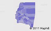Political Shades 3D Map of Santiago del Estero, single color outside