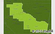 Physical 3D Map of Aguirre, darken