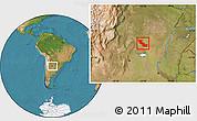 Satellite Location Map of Aguirre