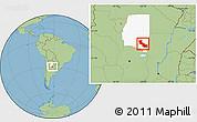 Savanna Style Location Map of Aguirre, highlighted parent region