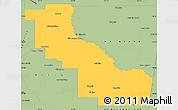 Savanna Style Simple Map of Aguirre