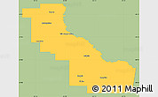 Savanna Style Simple Map of Aguirre, single color outside