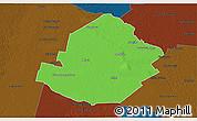 Political 3D Map of Atamisqui, darken