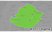 Political 3D Map of Atamisqui, desaturated