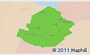 Political 3D Map of Atamisqui, lighten