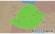 Political 3D Map of Atamisqui, semi-desaturated