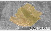 Satellite 3D Map of Atamisqui, desaturated