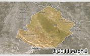 Satellite 3D Map of Atamisqui, semi-desaturated