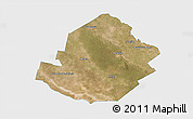Satellite 3D Map of Atamisqui, single color outside