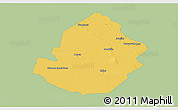 Savanna Style 3D Map of Atamisqui, single color outside