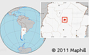 Gray Location Map of Atamisqui, highlighted country