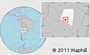 Gray Location Map of Atamisqui, highlighted parent region