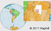 Political Location Map of Atamisqui, highlighted parent region