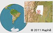 Satellite Location Map of Atamisqui, highlighted parent region