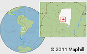 Savanna Style Location Map of Atamisqui, highlighted parent region