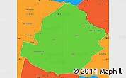 Political Simple Map of Atamisqui