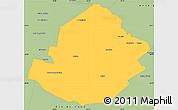 Savanna Style Simple Map of Atamisqui