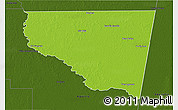 Physical 3D Map of Belgrano, darken