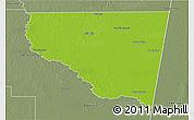 Physical 3D Map of Belgrano, semi-desaturated