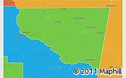 Political 3D Map of Belgrano