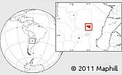 Blank Location Map of Belgrano