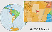 Political Location Map of Belgrano
