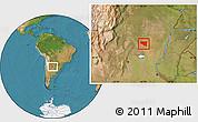 Satellite Location Map of Belgrano
