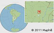 Savanna Style Location Map of Belgrano