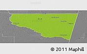 Physical Panoramic Map of Belgrano, desaturated