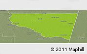 Physical Panoramic Map of Belgrano, semi-desaturated