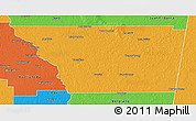 Political 3D Map of General Taboada