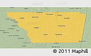 Savanna Style 3D Map of General Taboada