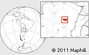 Blank Location Map of General Taboada