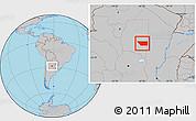 Gray Location Map of General Taboada