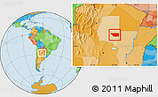 Political Location Map of General Taboada