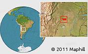 Satellite Location Map of General Taboada