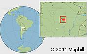 Savanna Style Location Map of General Taboada