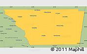 Savanna Style Simple Map of General Taboada