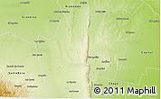 Physical 3D Map of Guasayan