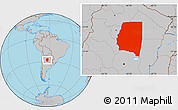 Gray Location Map of Santiago del Estero